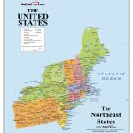Map Of Northeast Region Us Usa With Refrence States Printable Usa2 | Printable Map Of Northeastern United States