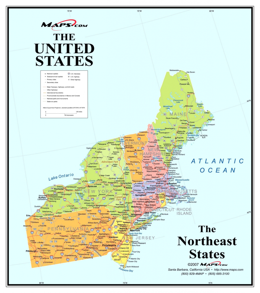 Map Of Northeast Us And Canada East Coast Usa Map Best Of Printable | Printable Map Eastern Usa