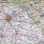 Map Of Northern Georgia   Printable Road Map Of Georgia Usa