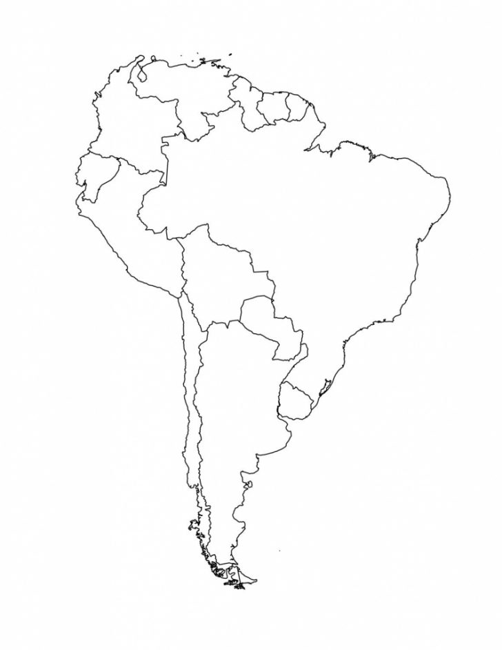 Printable South America Map Outline