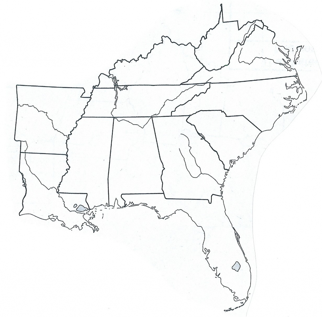 Map Of Southeast Us States - Earthwotkstrust | Printable Blank Map Southeast United States