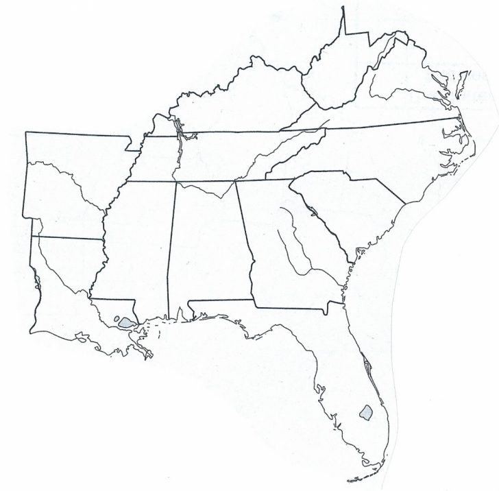Printable Map Southeast United States