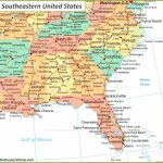 Map Of Southeastern United States | Free Printable Map Of The Southeastern United States