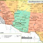 Map Of Southwestern United States | Printable Road Map Of Southwest Usa