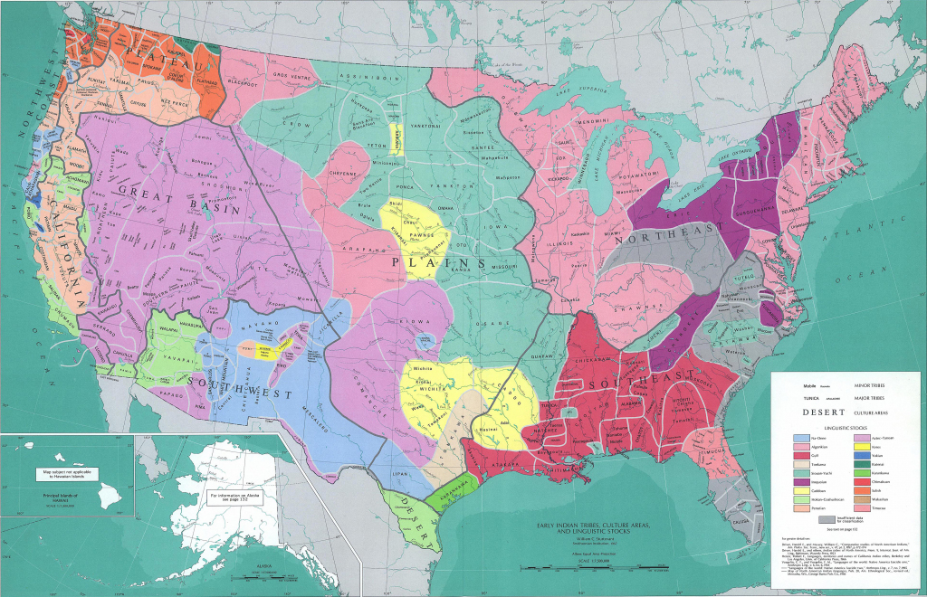 Map Of The United States - Early Native American Tribes | Printable Map Of Native American Tribes