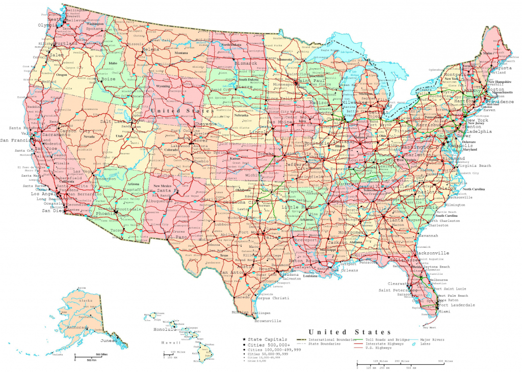 Map Of The Us States   Printable United States Map   Jb's Travels   Printable Map Of The United States With Interstates