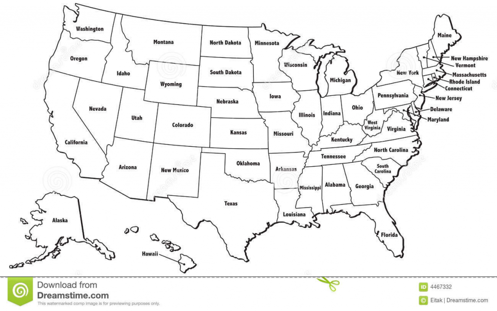 Map Of The Usa States And Capitals Printable Us Map With States And | Printable Us Map With State Names