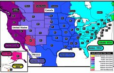 Map Of Time Zone In Usa And Travel Information | Download Free Map | Us Map With States And Time Zones Printable
