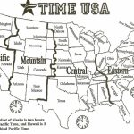 Map Of Time Zones In The Us Usa Time Zone Map Fresh Printable Map | Us Time Zones Map States Name Printable