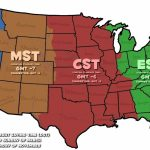 Map Of Time Zones In The Us Usa Time Zone Map Inspirational | Printable Map Of Usa With Time Zones