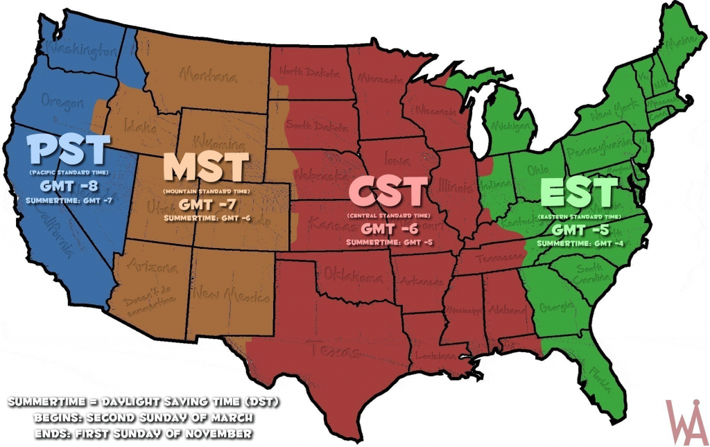 It's just a photo of Delicate Us Time Zone Map Printable
