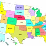 Map Of United States With Abbreviations New Printable Us Map With | Printable Us Map With States