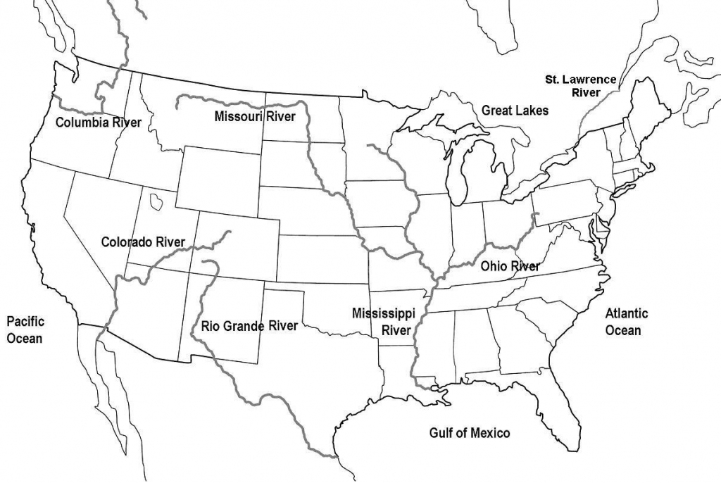 Map Of United States With Rivers And Travel Information | Download | Blank Us Map With Rivers