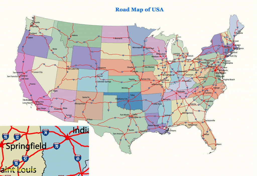 Map Of Us Cities And Highways Usa 352047 Luxury Best Us Map With | Printable Map Of Us Highways