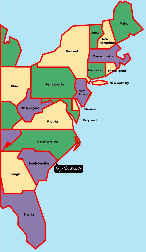 Map Of Us East Coast States Map Eastcoast Awesome Top East Coast Map | Printable Map East Coast Usa