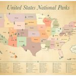 Map Of Us National Monuments National Park Map Lovely Printable Map | Printable Map Of National Parks In Usa