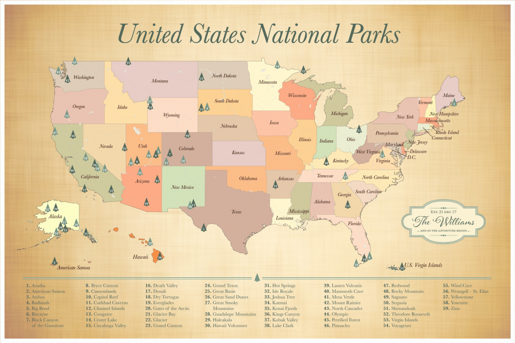 Map Of Us National Monuments National Park Map Lovely Printable Map | Printable Us Map Of National Parks