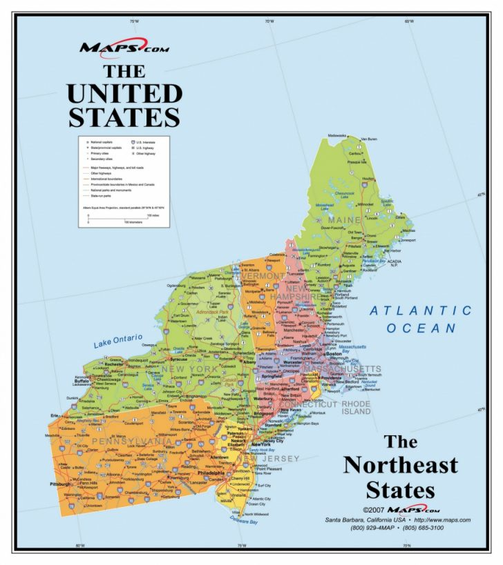 Printable Map Of Usa Regions
