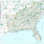 Map Of Us With Interstates | Sitedesignco | Printable Map Of Us Interstate System
