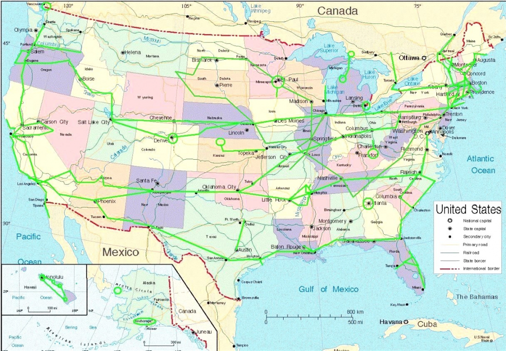 Map Of Usa Interstate Highways At Major In Justinhubbard Me New | Printable Us Interstate Map