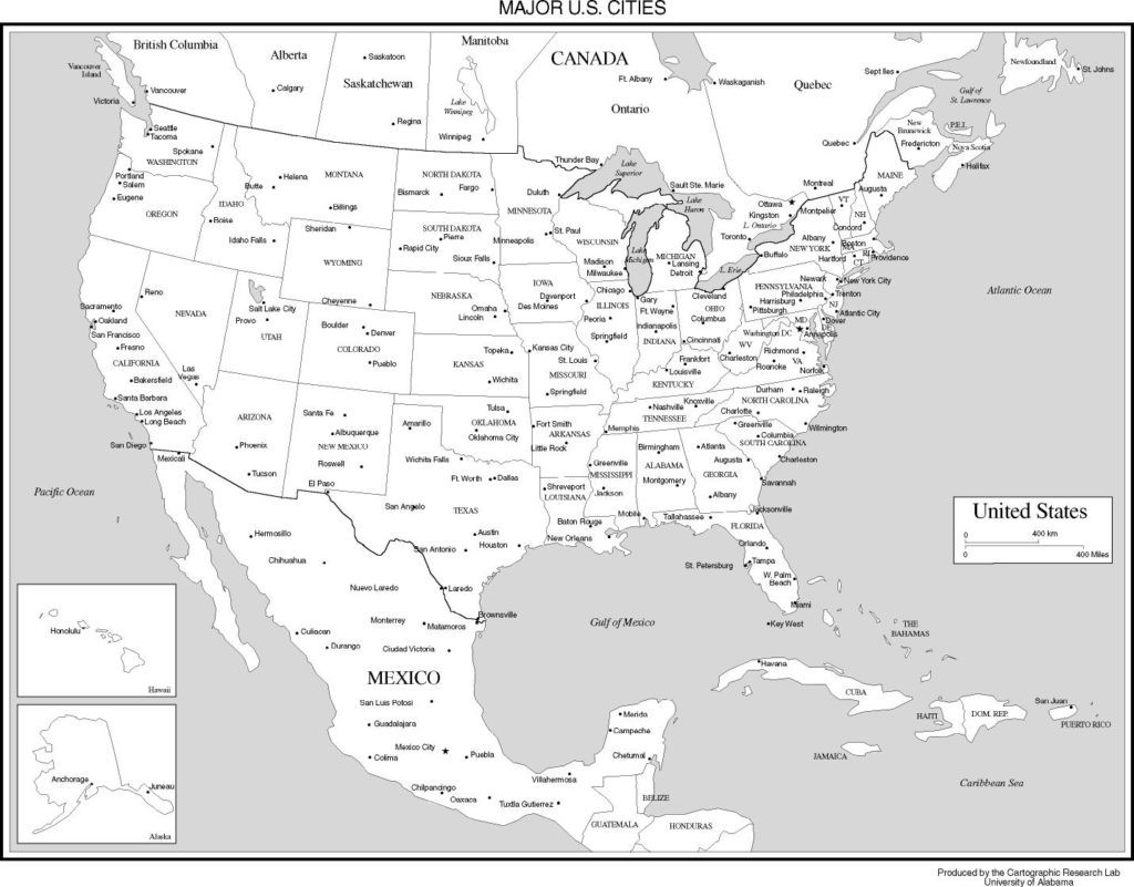 Map Of Usa States Printable Maps The United Throughout With Cities | Printable Map Of Usa With Cities