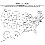 Map Of Usa With Abbreviations Us States Abbreviated On State Names New | Printable Map Of United States With Abbreviations
