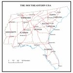 Map Southeast Printable New Major Cities The Region Sout Us States | Printable Map Of Southeast Usa