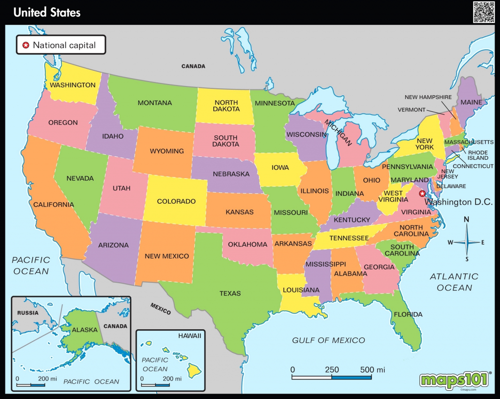Map Usa States Cities Printable New Printable Map The United States | Printable Map Of Usa Showing States