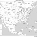 Maps Of The United States | Printable Map Of The United States Black And White