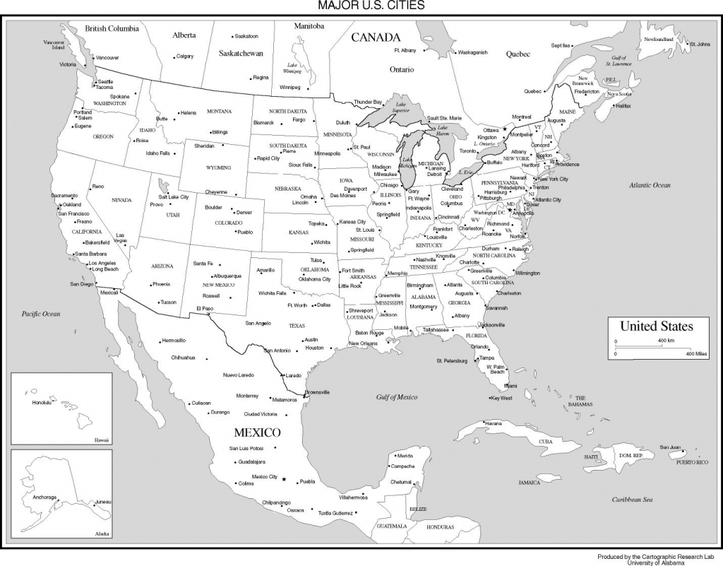 Maps Of The United States   Printable Map Of United States And Mexico