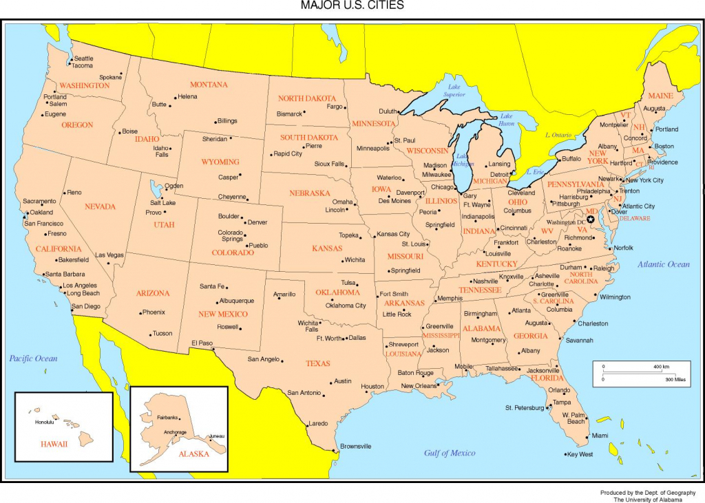 Maps Of The United States   Printable Us Map With Capital Cities