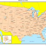 Maps Of The United States   Printable Us Map With Major Cities
