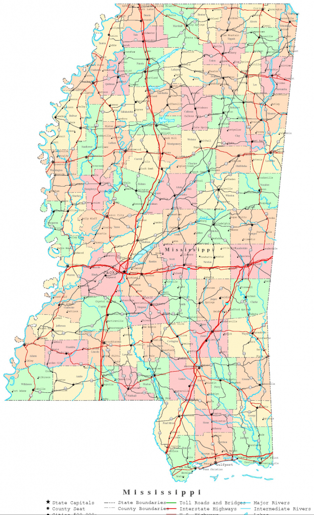 Mississippi Printable Map | 8X11 Printable Us Map