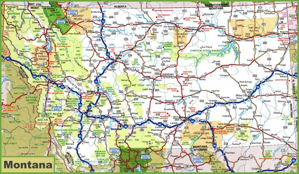 Montana Road Map | Printable Road Map Of Western Us