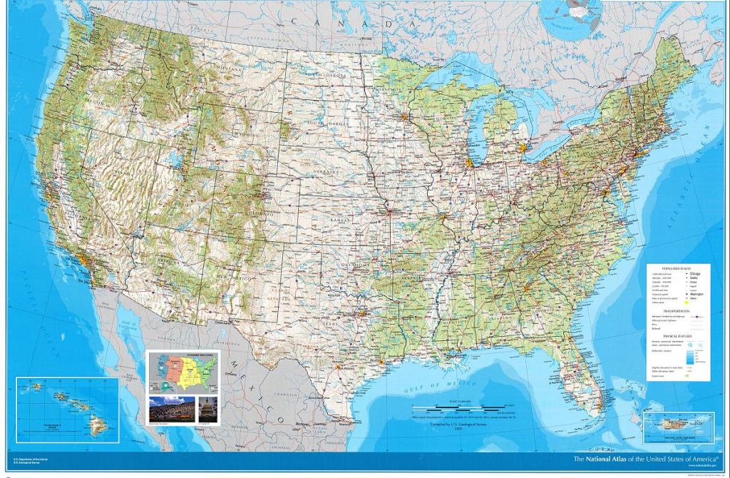 National Atlas Of The United States - Wikipedia | Large Scale Printable Us Map