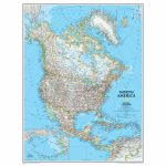 National Geographic Us Map Printable Best North America Classic | National Geographic Us Map Printable