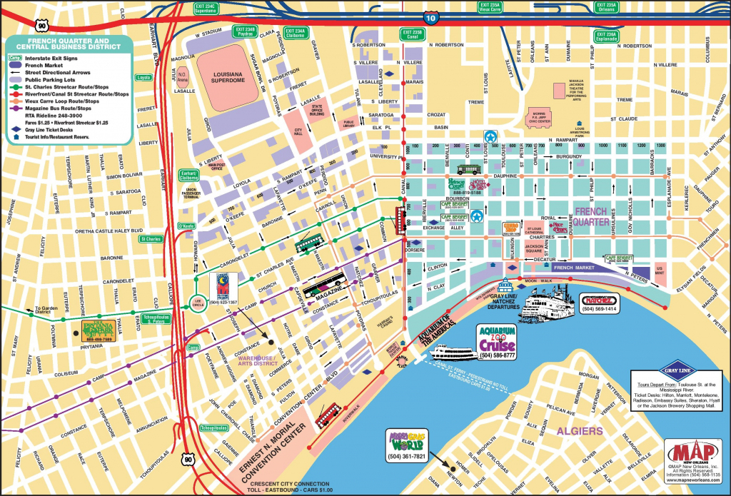 New Orleans French Quarter Tourist Map | Us Quarter Map Printable