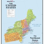 North East United States Map New Printable Map Northeast Region Us | Printable Map Of Eastern Usa