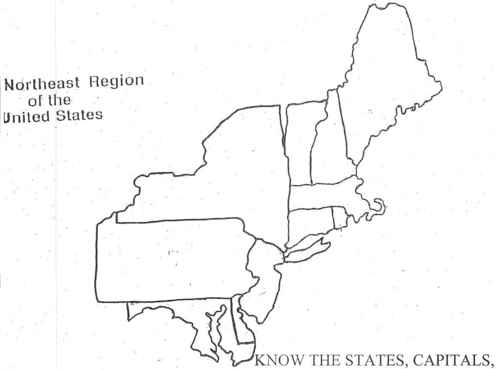 Northeast Region Blank Map North East Printable Of The Diagram   Printable Blank Map Of Eastern United States