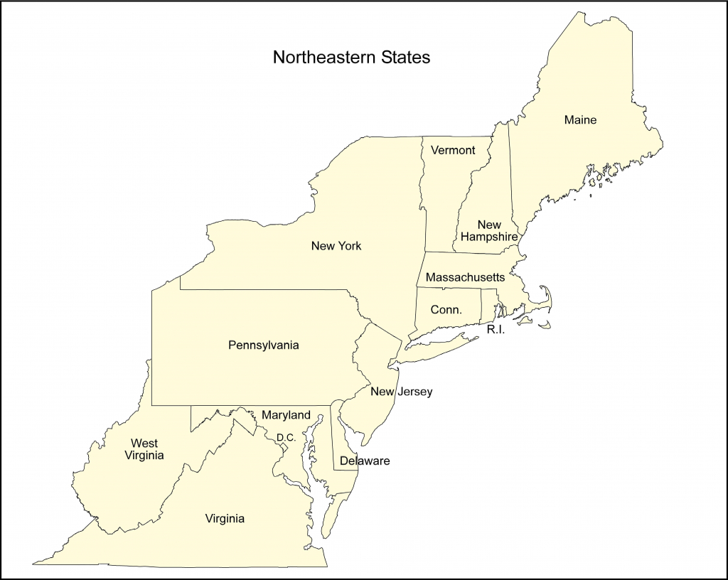 Northeast Us Blank Map New Printable Map Northeast Region Us | Printable Map Of Northeastern Us