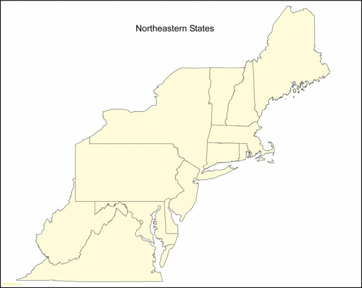 Printable Map Of Northeastern United States
