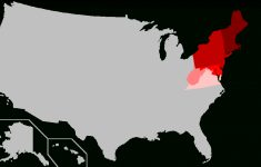Northeastern United States – Wikipedia | 5 Regions Of The United States Printable Map