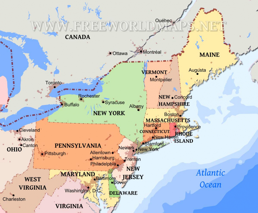 Northeastern Us Maps | Printable Map Of Eastern United States With Cities