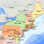 Northeastern Us Maps | Printable Map Of Northeastern Us