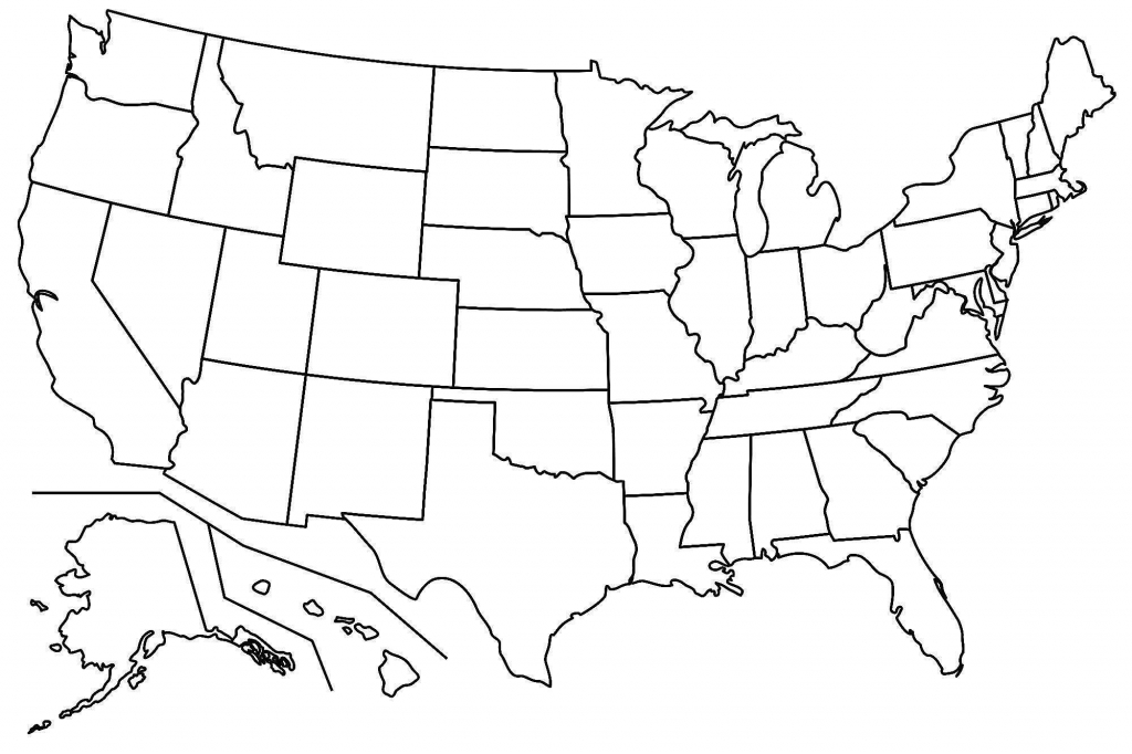 Outline Map Of The United States With State Names Save Printable Us | Printable Blank Outline Map Of The United States