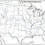 Outline Map Of The Usa With American States, Rivers, Capitals | Printable Map Of The United States And Capitals