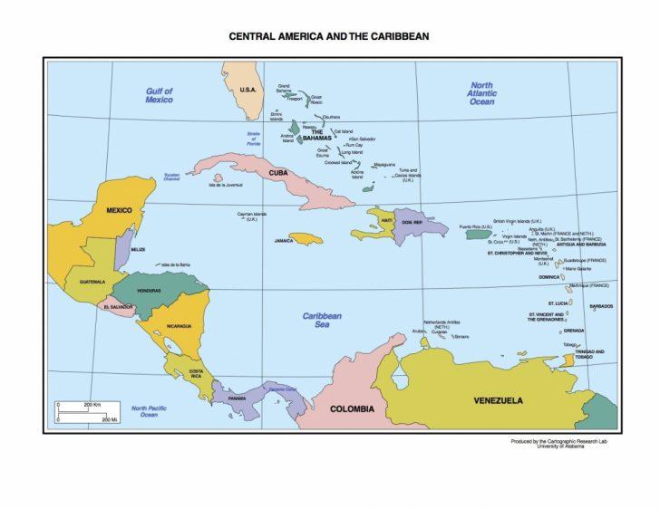 Printable Central America Map Quiz