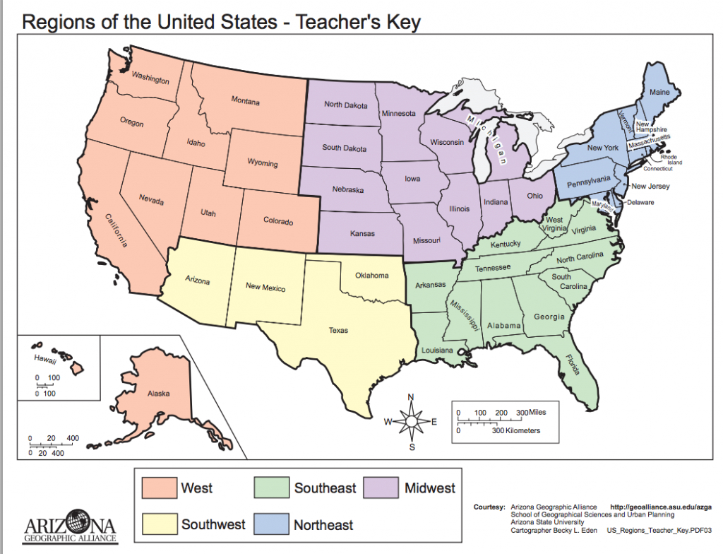 Pinwesley Stidger On The States For Studies | Teaching Social | Blank Us Regions Map