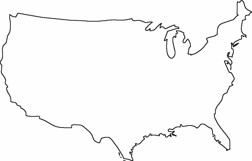 Png Usa Outline Transparent Usa Outline Images. | Pluspng | Continental Us Map Printable