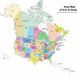 Political Map North America Printable Us Canada With Cities Save | Printable United States And Canada Map